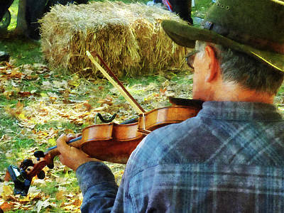 Father Photograph - Fiddler by Susan Savad