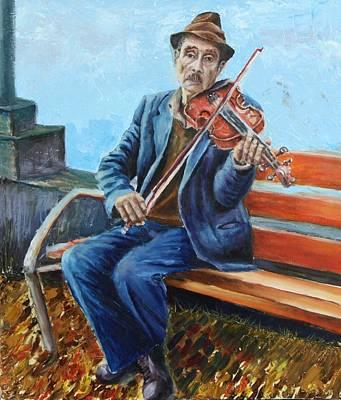 Fiddler Print by Vita Schagen
