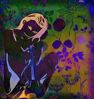 Violin Digital Art - Fiddling Around by Bill Cannon