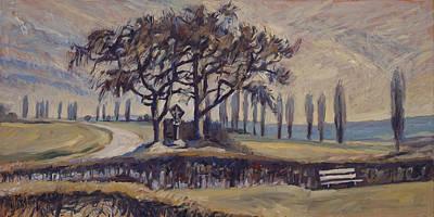Field Cross At Eyserhalte Original by Nop Briex