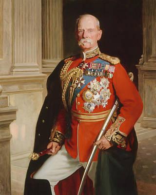 Field Marshal Lord Roberts Of Kandahar Print by Frank Markham Skipworth