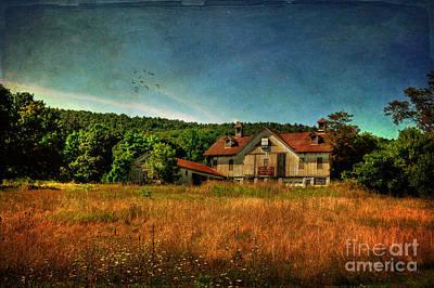 Old Barns Digital Art - Field Of Broken Dreams by Lois Bryan