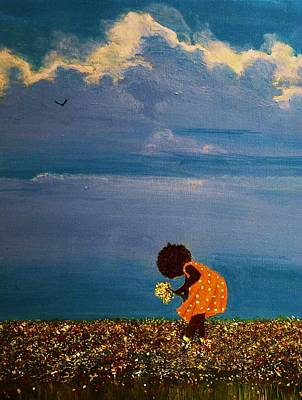 African Child Painting - Field Of Colors by Edith Peterson-Watson