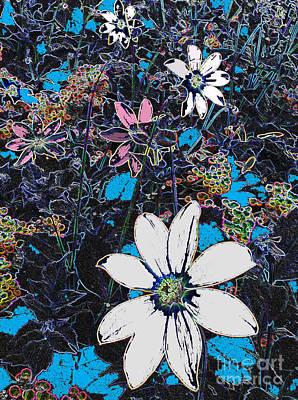 Field Of Dreaming Flowers Print by Deborah Montana