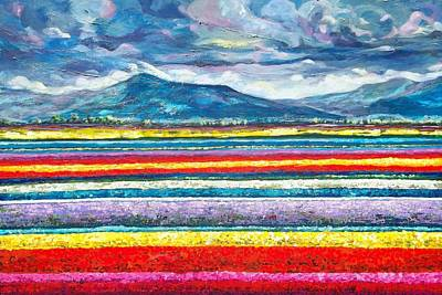 Tulip Festival Painting - Field Of Dreams by Suzanne King
