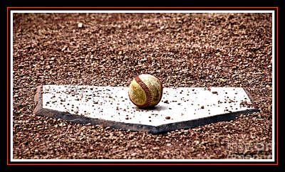 Home Plate Photograph - Field Of Dreams The Ball by Susanne Van Hulst