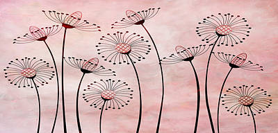 Field Of Flowers Within 3 Print by Angelina Vick