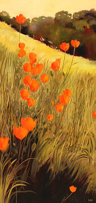 Poppies Field Painting - Field Of Poppies by Sue  Darius