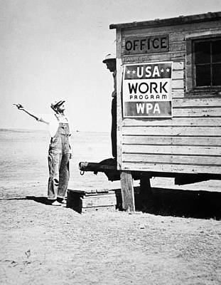 Fdr Photograph - Field Office Of The Wpa Government Agency by American Photographer