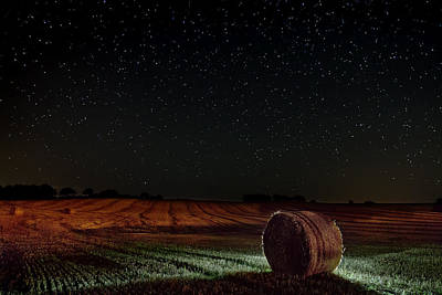 Morning Photograph - Fields At Night by EXparte SE