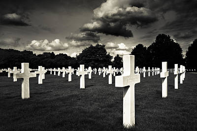 Time-honored Photograph - Fields Of The Lost - American Cemetery At Cambridge by Mark E Tisdale