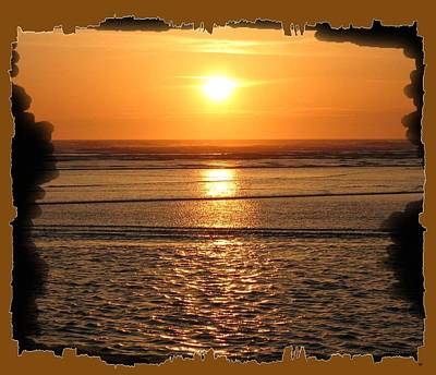 Fiery Cannon Beach Sunset Print by Will Borden