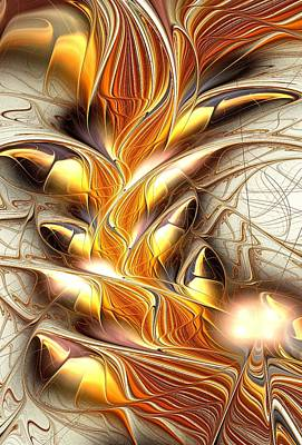 Fiery Claws Print by Anastasiya Malakhova