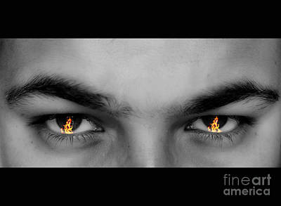 Eyes Photograph - Fiery Eyes by Image World