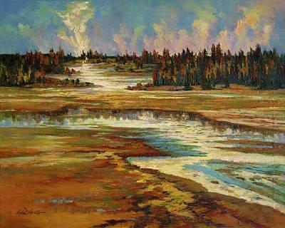 Clouds Painting - Fiery Waters by Guo Quan Zheng