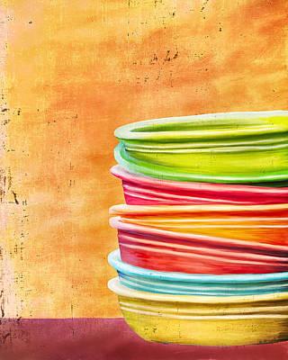Fiestaware Painting - Fiesta 2 by Brenda Bryant