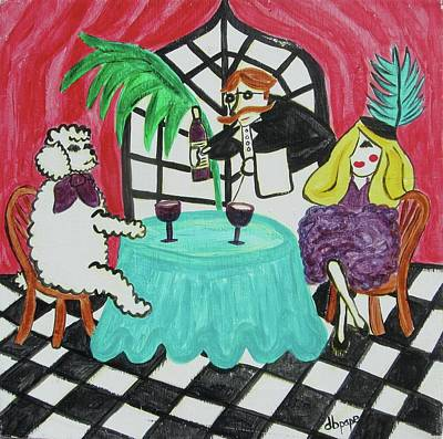 Fifi's Night Out Print by Diane Pape