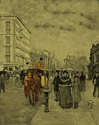 Beach House Drawing - Fifth Avenue At Madison Square By Theodore Robinson 1894 by Movie Poster Prints