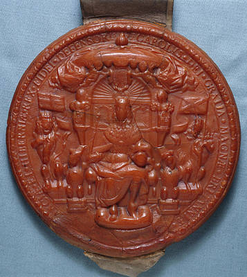 Adornment Photograph - Fifth Seal Of King Charles I by British Library
