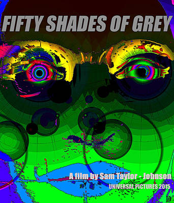 Fifty Shades Of Grey Painting - Fifty Shades Of Grey Poster Work C by David Lee Thompson