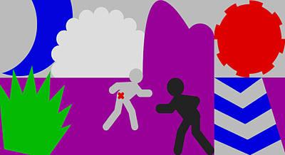 I Am Legend Digital Art - Jacob Wrestling With God by Martin VILLETTE