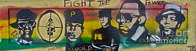 Fight The Power On Wood Original by Tony B Conscious