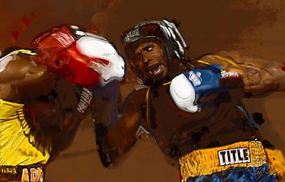Cage Fighter Digital Art - Fighters by Dennis Wickerink