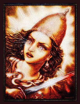Angel Mixed Media - Fighting Goddess 2 by Ananda Vdovic