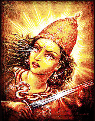 Cobra Mixed Media - Fighting Goddess by Ananda Vdovic