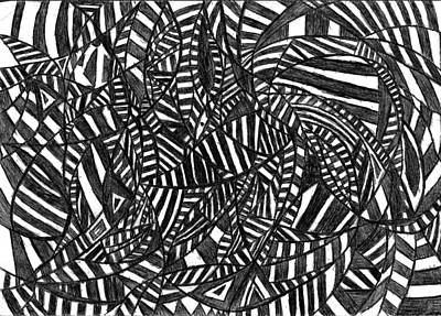 Abstract Movement Drawing - Figment Of The Imagination by Rowan Van Den Akker