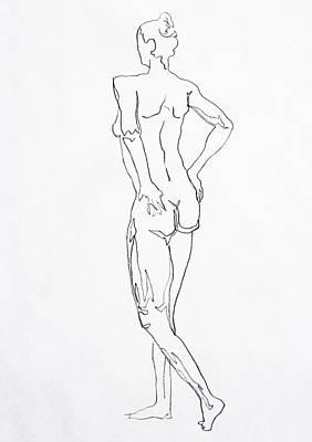 Figure Drawing Drawing - Figure Drawing Study I  by Irina Sztukowski