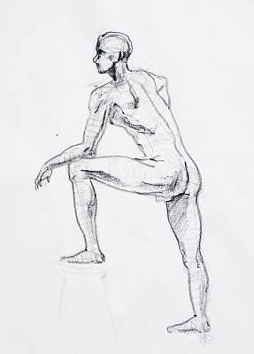 Figure Drawing Drawing - Figure Drawing Study II by Irina Sztukowski
