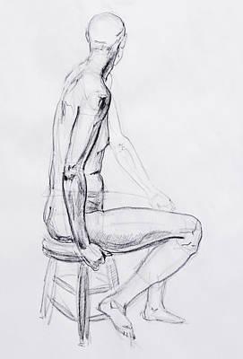 Figure Drawing Drawing - Figure Drawing Study V by Irina Sztukowski