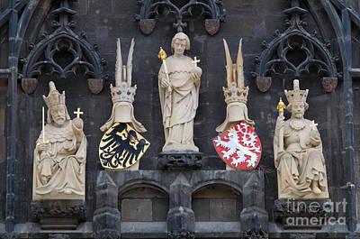Praha Photograph - Figures On Staromestska Vez In Prague by Michal Bednarek