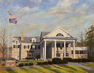 Harvard Painting - Fiji Fraternity House Iu Indiana University by Steve Haigh
