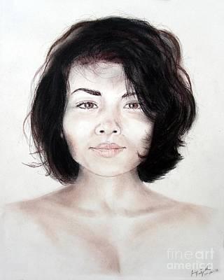 Filipina Drawing - Filipina Beauty II by Jim Fitzpatrick