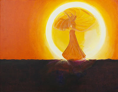 Sundance Painting - Fille Du Soleil by Barbara Klimova