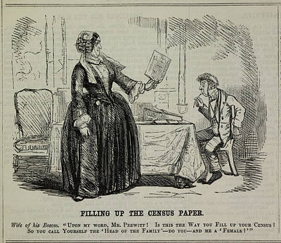 Filling Up The Census Paper Print by British Library