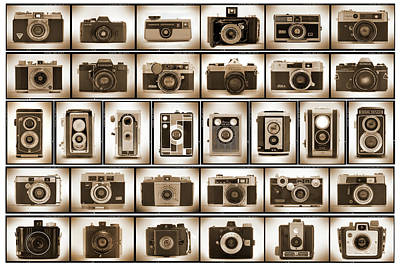 Vintage Camera Photograph - Film Camera Proofs by Mike McGlothlen