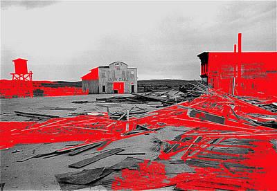 Film Homage High Plain Drifter 1973 Monte Walsh Set Windstorm Mescal Arizona 1969-2012 Print by David Lee Guss