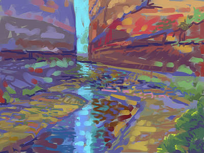 Canyon Painting - Filtered Light by Howard Ganz