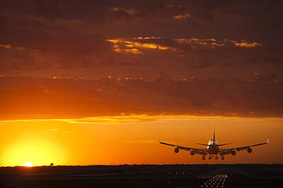 747 Photograph - Finally Home by Andrew Soundarajan