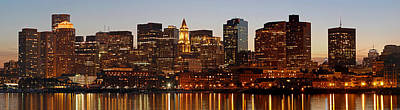Financial District Of Boston Panorama Print by Juergen Roth