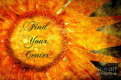 Find Your Center  Print by Andee Design