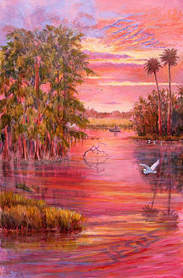 Cypress Swamp Painting - Finding Jesus #5 by Susan Jenkins