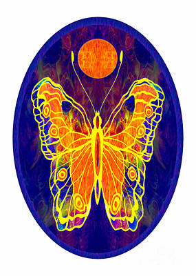 Digital Art - Finding My Way Abstract Butterfly Art By Omaste Witkowski by Omaste Witkowski