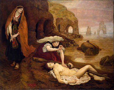 Finding Of Don Juan By Haidee Print by Ford Madox Brown