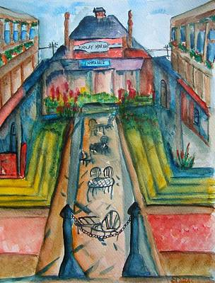 Cincinnati Ohio Painting - Findlay Market by Elaine Duras