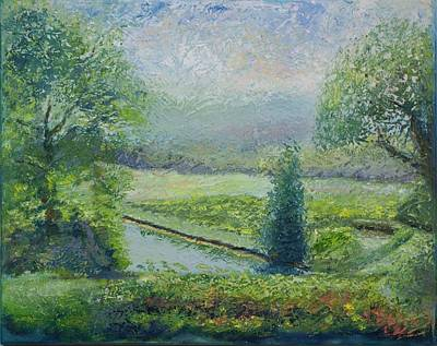 Pallet Knife Painting - Fine Wines by William Killen