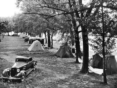 Keuka Photograph - Finger Lakes Camping by Underwood Archives